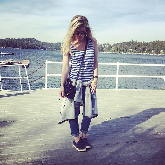 summer nautical outfit by the lake