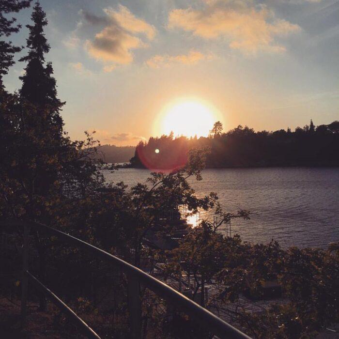 Sunset over the lake - lake arrowhead