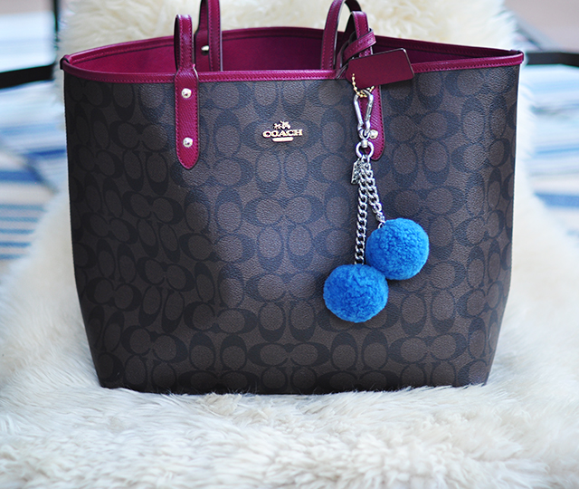 2 In One Reversible Coach Tote Bag
