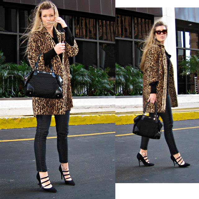 black on black with leopard print