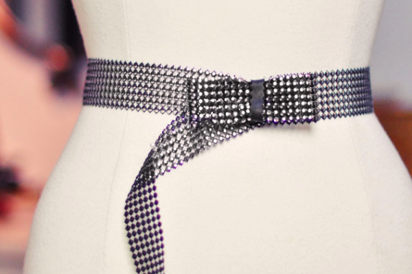 diy studded bow belt