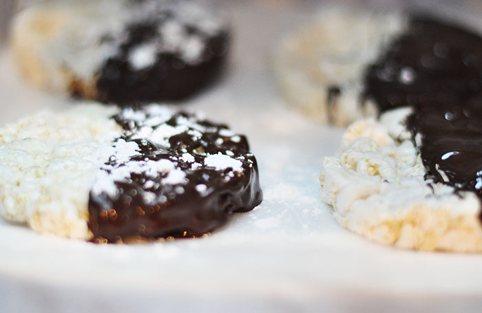 Chocolate dipped rice cakes-1