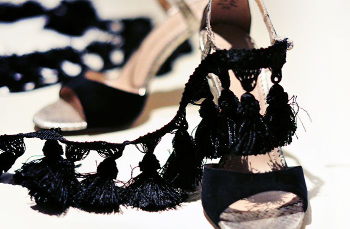 DIY Ankle Strap Sandals Heels with tassels