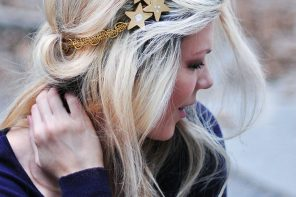 DIY Gold Starry Night Headband