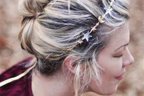 DIY Hair Accessories // Celestial Stars & Moons Headband Crown