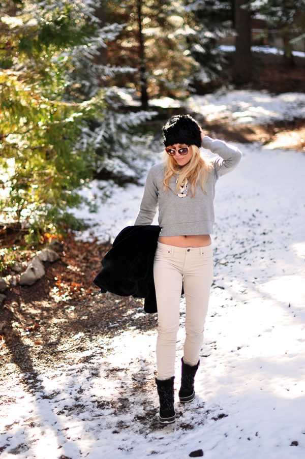 winter style in the snow