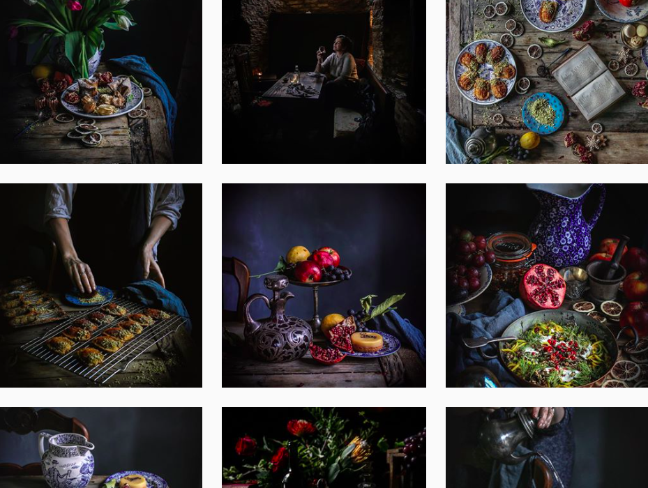 dark materials food artist instagram
