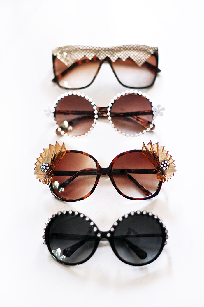 ff93a22f4852 A few days ago I hinted that I may have DIY d a pair of super fun – SUPER BLING  sunglasses inspired by the great Kerin Rose Gold