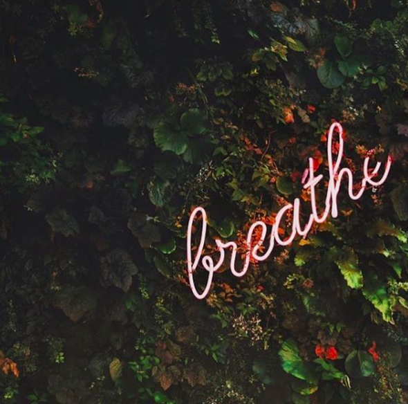 breathe - neon sign