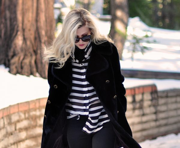 outfit in the snow-winter style