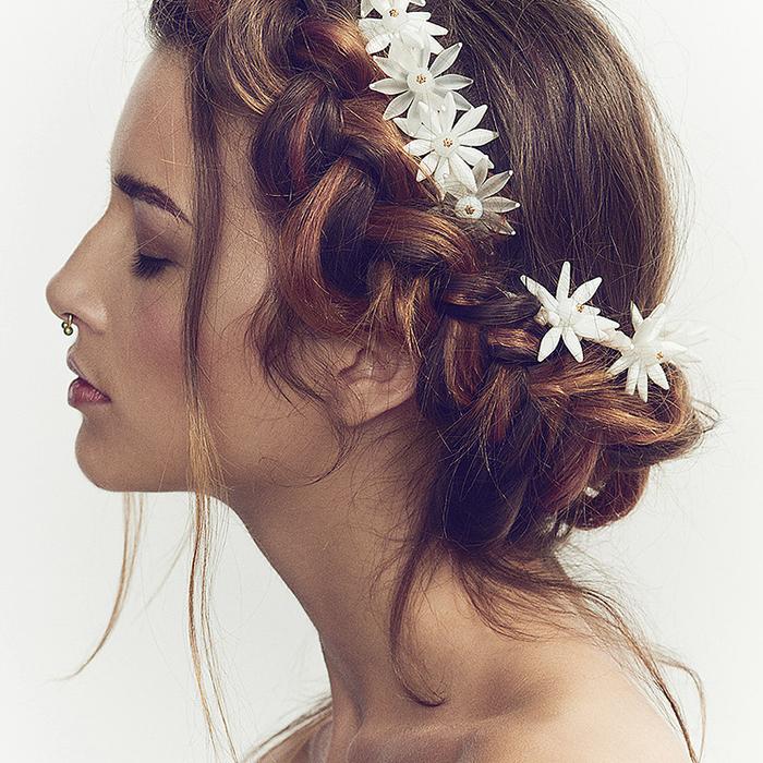 pretty wedding bridal hair accessories by luna bea