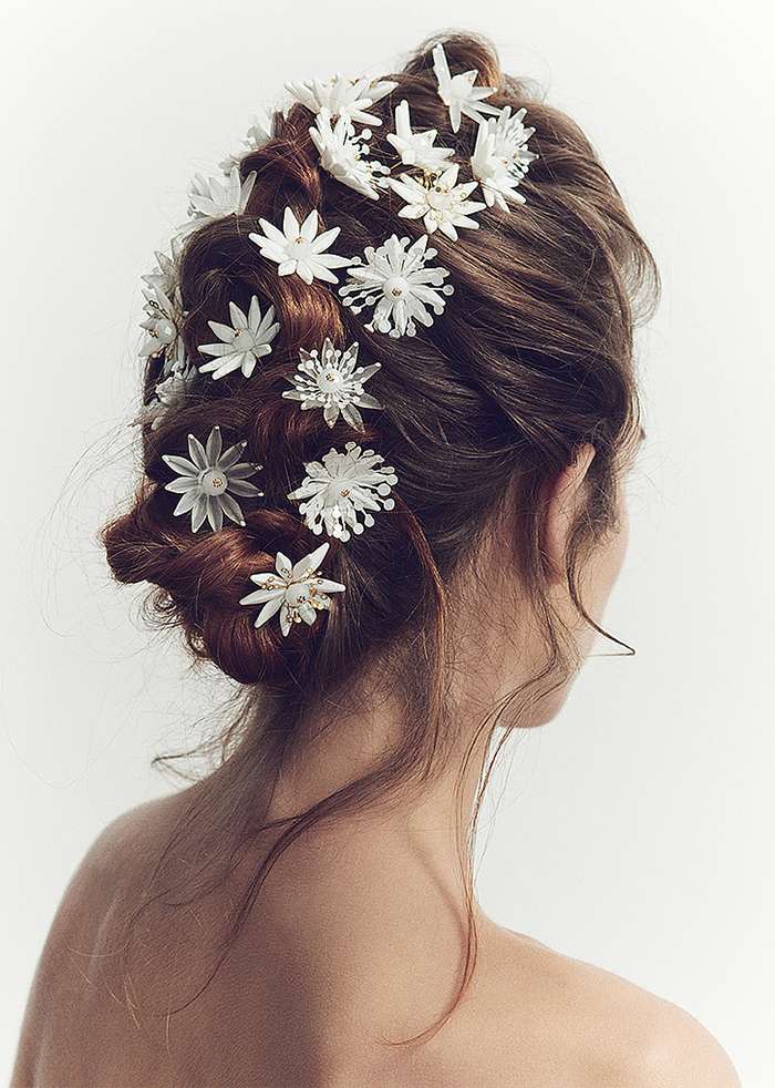 pretty wedding bridal hair accessories by luna bea