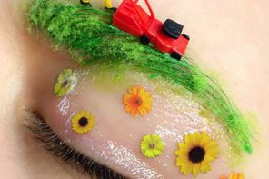 Beauty // Makeup Art : Tiny Little Springtime Face Landscapes