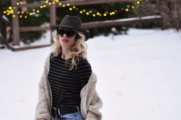 casual snow style-vintage levis