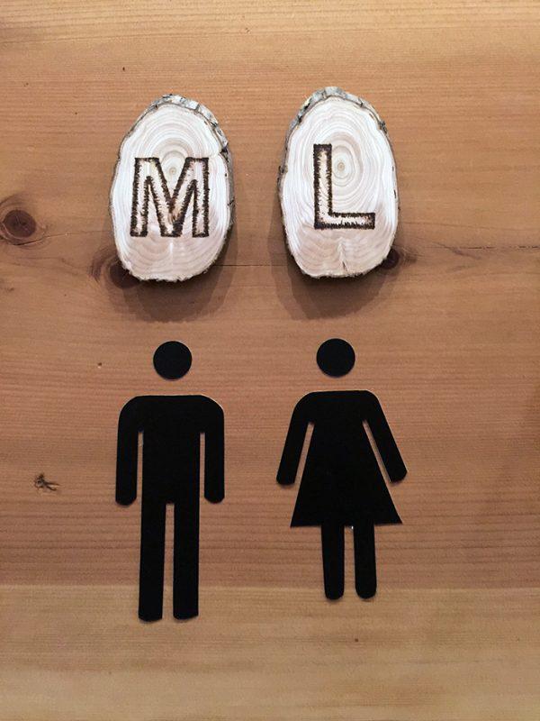 DIY restroom signs