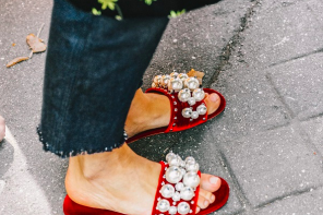 Spring Trend Alert // Super Fancy Embellished Slides & Sandals
