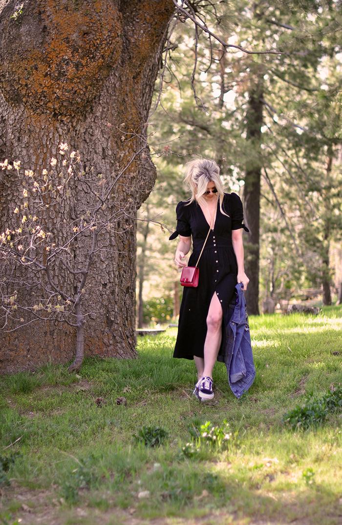 spring style, dresses with sneakers, old skool vans, lake arrowhead life