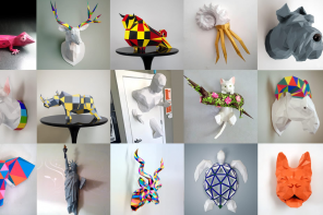 Artist Feature // 3D Paper Sculptures Faux Taxidermy DIY Tutorials