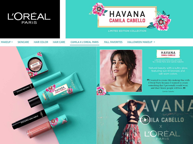 limite edition camila cabello loreal paris makeup collection