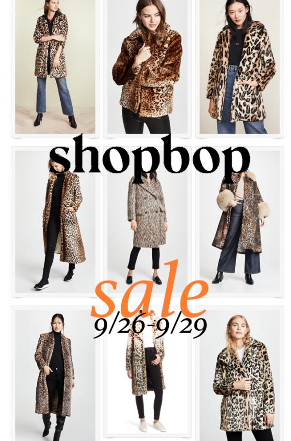 leopard coats and jackets - shopbop fall sale