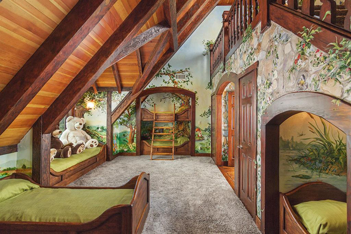 Cute secret garden peter rabbit themed kids bedroom