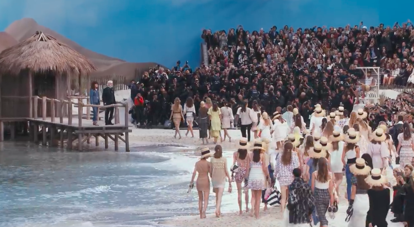 Chanel at the beach spring-summer 2019 ready to  wear runway fashion show for Paris fashion week 2018