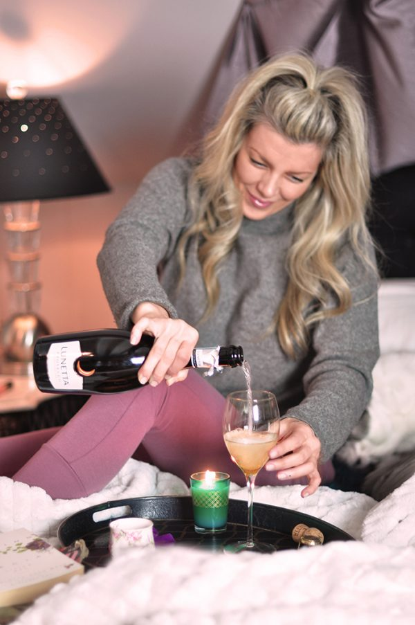 me time with lunetta wine- self care