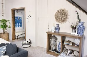Home // Little Entryway Closet Under the Stairs Makeover – before/after