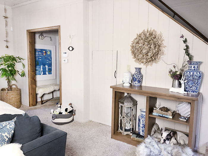 utilizing small spaces - little closet under the stairs gets a makeover