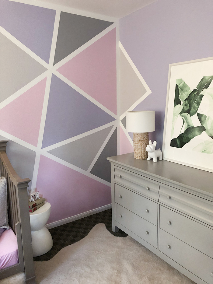 Home Decor Geometric Accent Wall Little Girl S Room Love