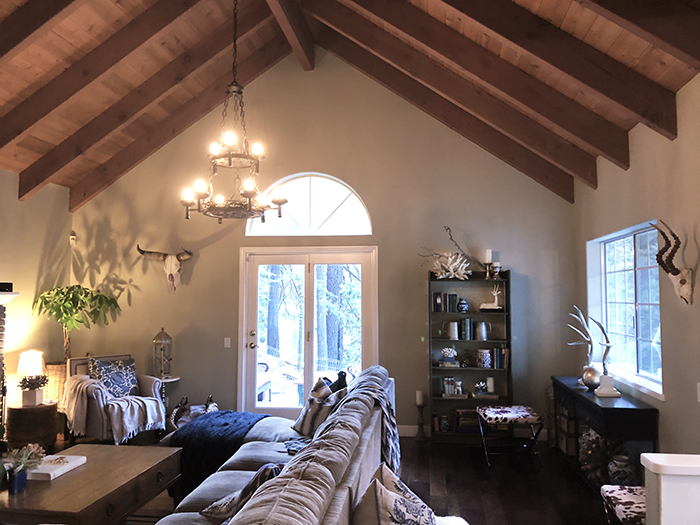 rustic lake house living room eclectic decor 3