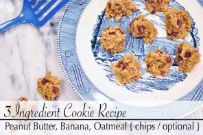 3 Ingredient Peanut Butter, Banana, Oatmeal Cookies Recipe