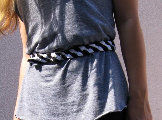 DIY Braided Jersey Belt from an old t-shirt