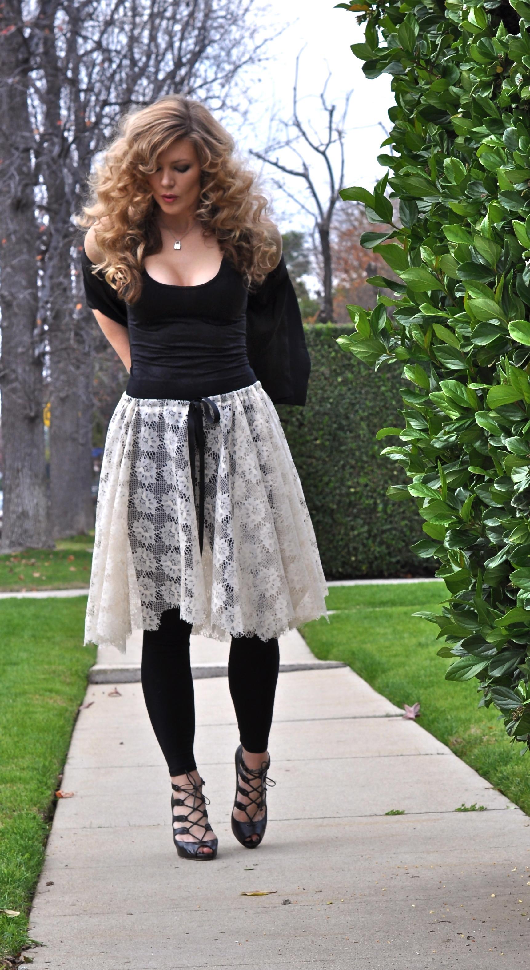 lace skirt diy