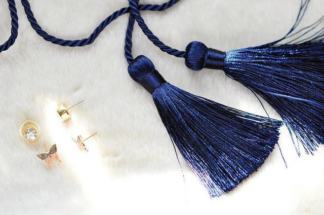DIY Pretty Long Tassel Earrings