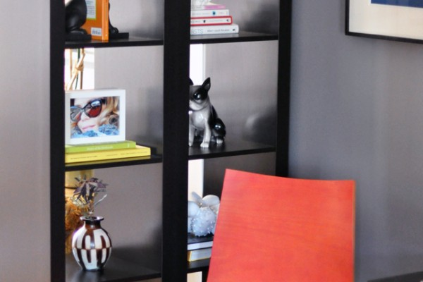 Oto chair and expedit shelves