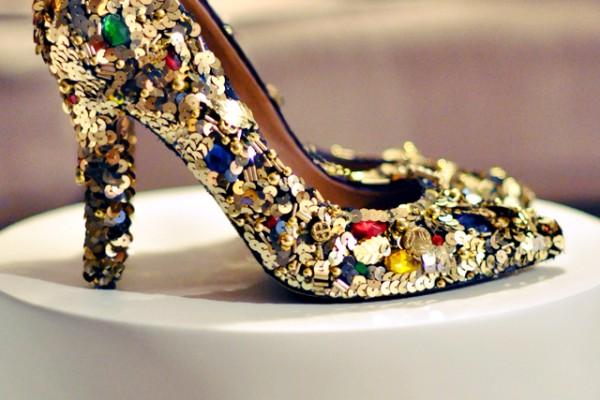 DIY Gold Embellished & Jeweled Dolce & Gabbana Shoes