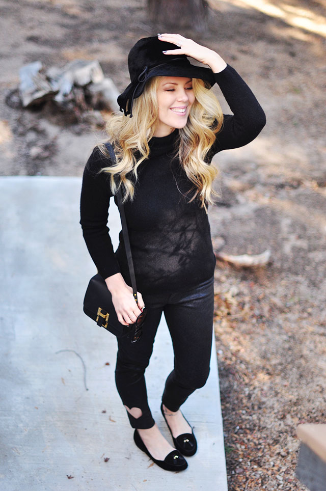 fall style - black on black look