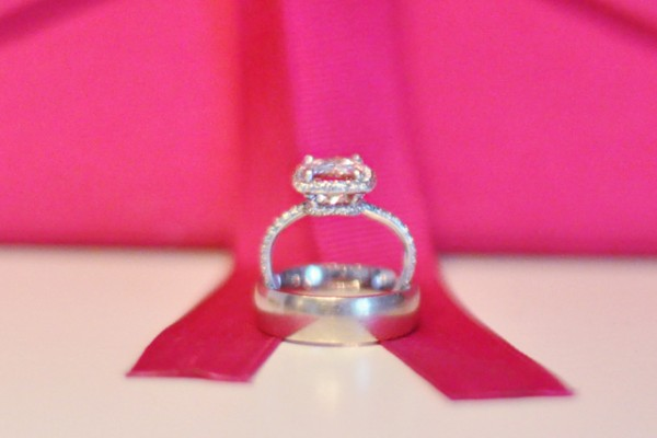 morganite and diamond wedding rings