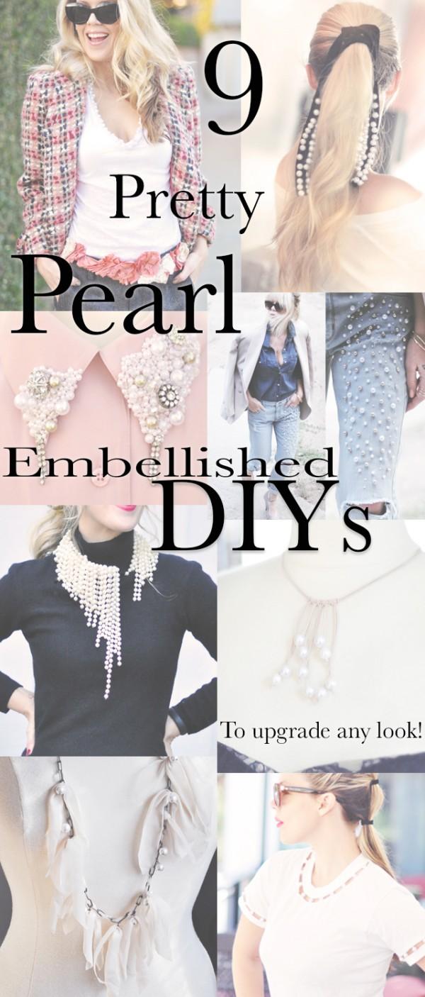 9 Pretty Pearl Embellished DIYs