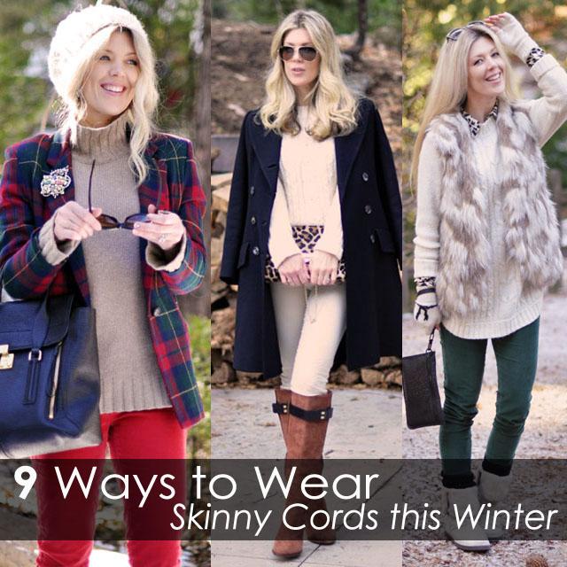 9 ways to wear skinny cords