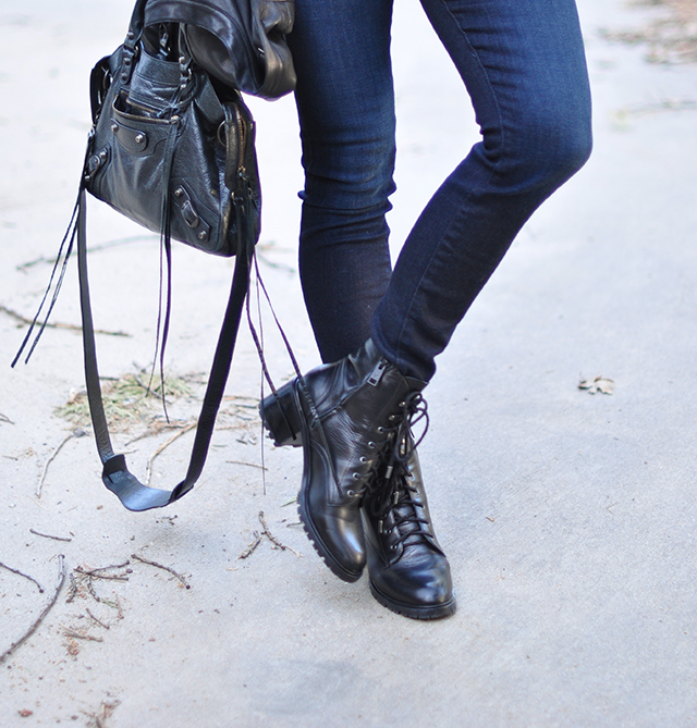 Balenciaga bag_jeans_lace up boots
