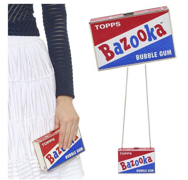 Bazooka clutch bag