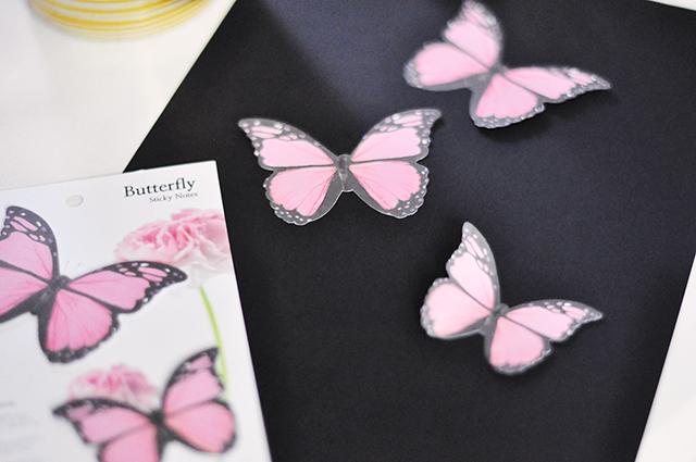 Butterflies gold print