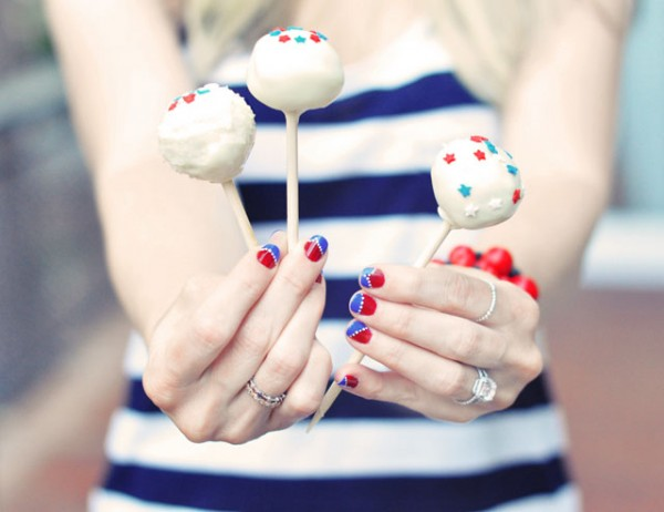 Cake Pops for the 4th of July