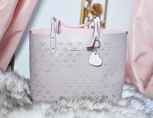 2397e186f5 buy coach tote bagperforated flowers 86870 308c4