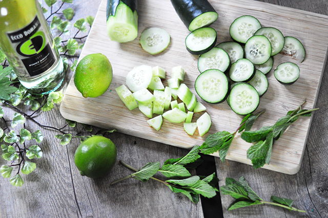 Cucumber Lime Mint Ecco Domani Wine Cocktails