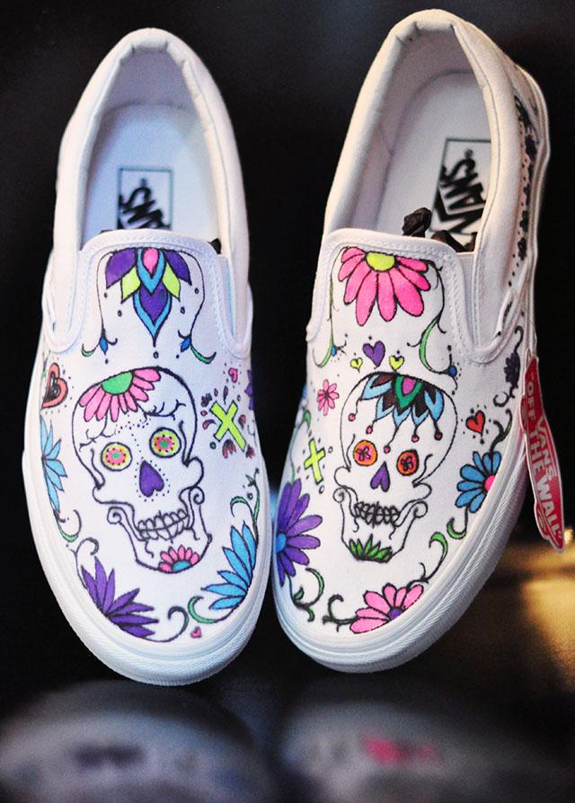 Custom Sugar Skull Vans