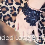 DIY BLack Lace Beaded Bracelet-feature-leopard