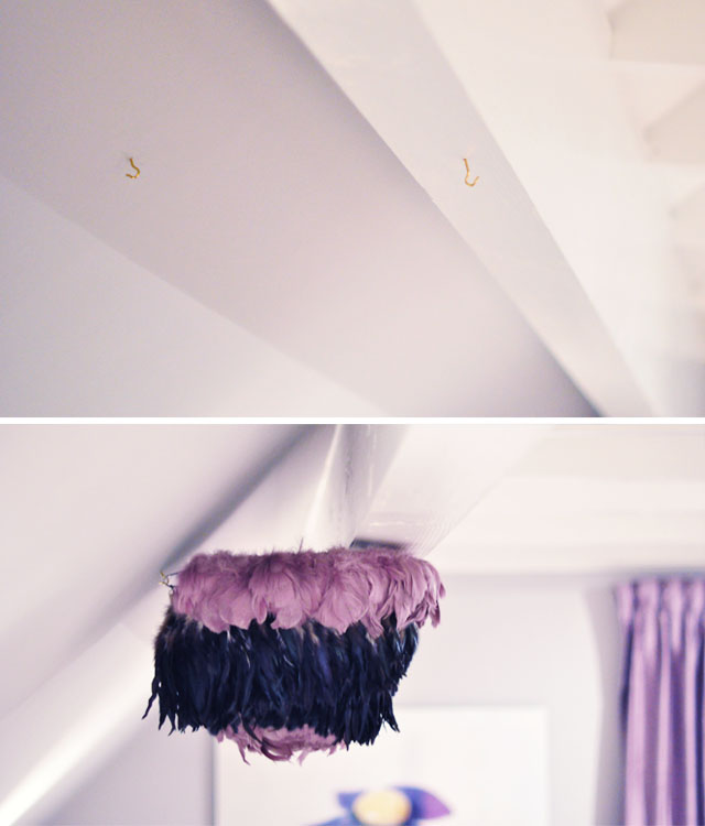 DIY Bed Canopy with Feather Pendant-7-8